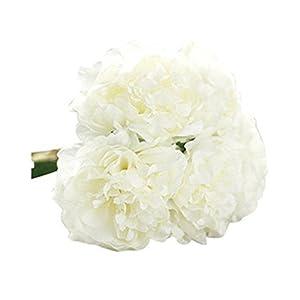 gzzebo 5 cabezas de flores de peonía artificial nupcial hortensias jardín de la casa fiesta de la boda decoración de la…