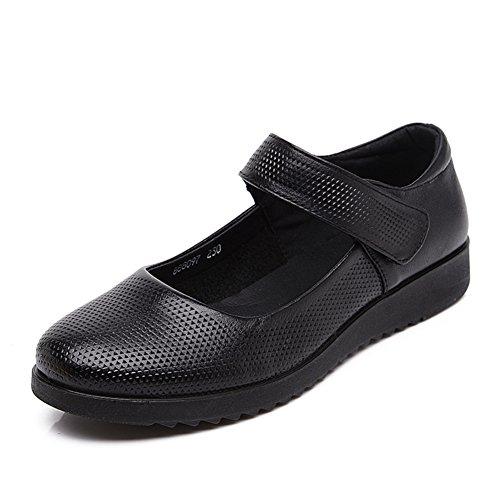 grandi dimensioni scarpe asakuchi madre/Fine del morbido scarpe da donna/Scarpe di donne di mezza età/Fondo piatto scarpe per gli anziani/Scarpe da lavoro-A Lunghezza piede=26.3CM(10.4Inch)