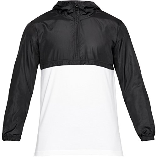 Under Armour Wind Anorak Chaqueta, Hombre, Blanco (100), L