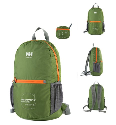 Naturehike Ultraligh Outdoor Backpack Folding Bag Camping Backpack Climbing Bag (Green)
