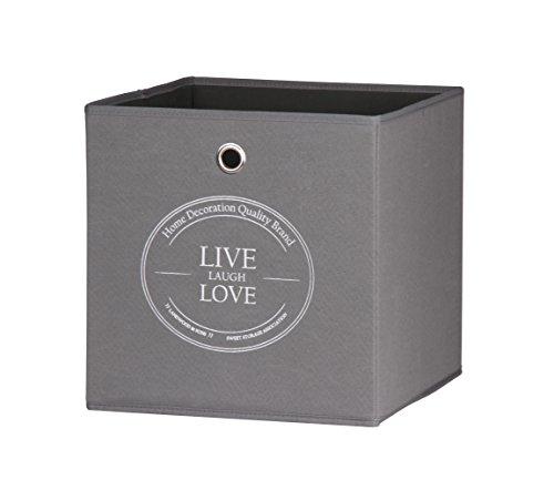 intertrade-002122-beta-1-live-laugh-love-faltbox-3-er-set-stoff-optik-anthrazit-32-x-32-x-32-cm