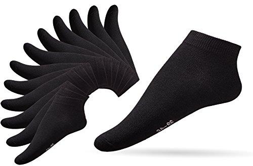 Damen 10er Pack schwarz 35-38 Sportsocken knöchelhoch Füßlinge Ankle Socks Strümpfe Söckchen Kurzsocken Invisible Socks Sportstrümpfe kurze Socken Low Cut Socks (35-38, schwarz) (Die Kleidung)