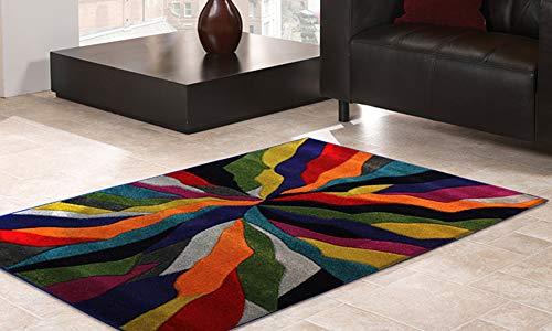 Flair Rugs Spectrum Handgeschnitzter Teppich, Polypropylen, Multi, 80 x 150 cm -