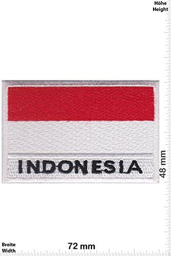 Patch - Indonesia - Flagge - Indonesien - Länder Patch - Patches - Aufnäher Embleme Bügelbild Aufbügler