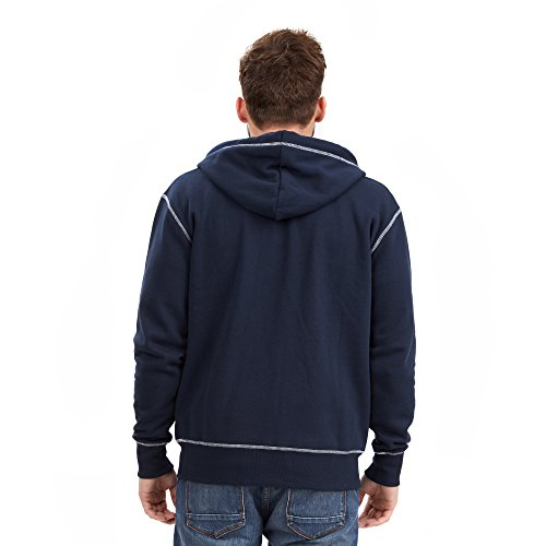 Joe Browns Herren Kapuzenpullover On the Road Zip Thru Blau - Blue (A-Navy)