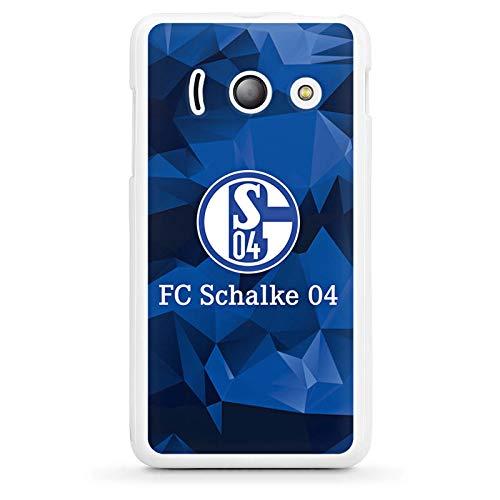 DeinDesign Silikon Hülle kompatibel mit Huawei Ascend Y300 Case Schutzhülle FC Schalke 04 Camouflage S04