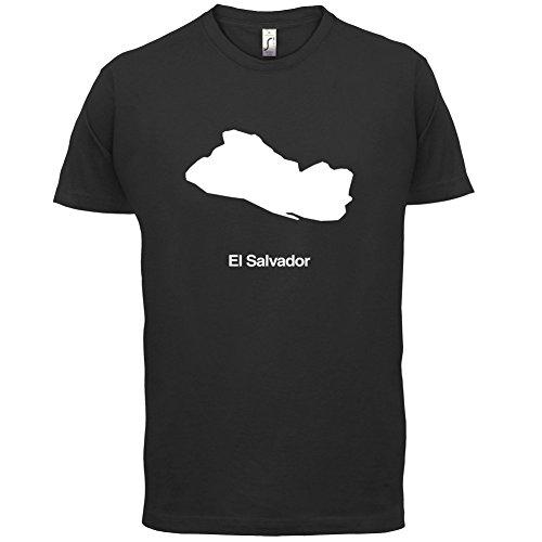 El Salvador / Republik El Salvador Silhouette - Herren T-Shirt - 13 Farben Schwarz