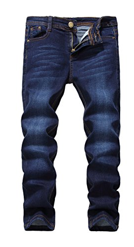 Fredd Marshall Boy's Skinny Fit Stretch Fashionable Jeans Pants Slim Comfy Denim Blue for Kids