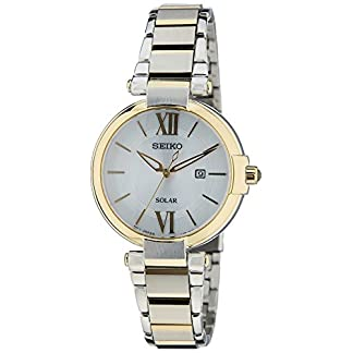 Seiko Dress Analog White Dial Women's Watch-SUT154P1