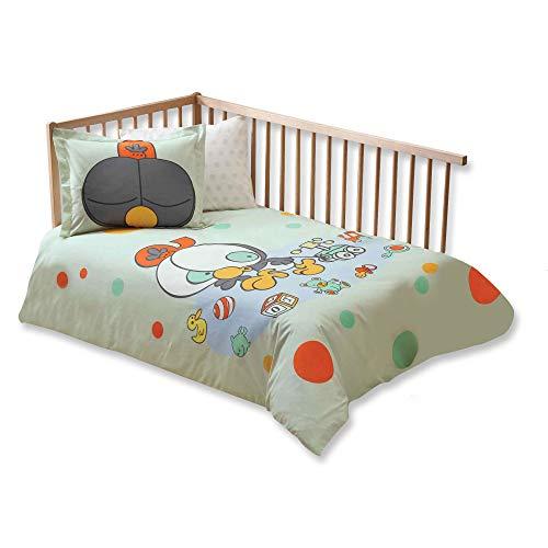 100% Bio-Baumwolle Weich und gesund Baby für Kinderbett, Bettbezug Set 4Stück, sizinkiler Olive Offiziell Lizenz-Bettwäsche