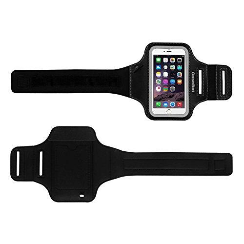 """Fintie Apple iPhone 6 Plus / iPhone 6S Plus (5.5"""") Armband / Hülle - [CaseBot Sportarmband] Running / Lauf Sports Armtasche mit Schlüssel / kreditkarte / Kleingeld Halterungen [Garantie auf Lebenszeit Grau"""