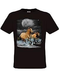 Ethno Designs Horse Wilderness - Cheval T-Shirt pour Enfants et Adultes regular fit