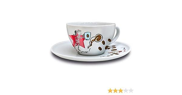 Ritzenhoff COFFEE LOVE Cappuccinotasse mit Untertasse Marsden Ian D Fr/ühjahr 2016 Frau 3300006 // Design Cappuccino Tasse