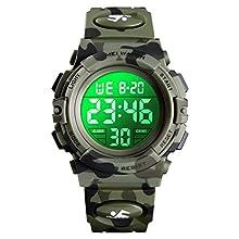 Kids Watch, Enjoyfeel Digital Sport Camouflage Watches, Luminous Waterproof Electronic Wrist Watch for Boys Girls