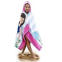Amknn Kids Hooded Beach Bath Towel 100% Cotton Children Swim Cover-Ups Super Soft
