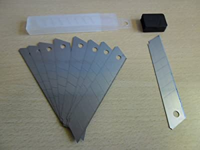 200 Stück Abbrechklingen 18 mm, Eisgehärtet, Stärke: 0,4 mm, Cutterklingen von SBS - TapetenShop