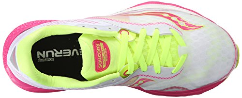BASKETS SAUCONY KINVARA 7 WOMAN ROSE/BLANC blanc - White