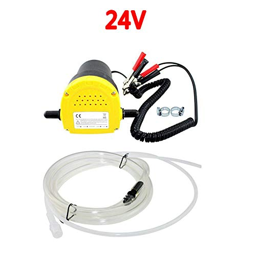 elegantstunning - Pompa di trasferimento a Ventosa per Olio e Olio Grezzo, 12 V/24 V