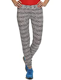 Clovia Stretchy High Rise Tights In Animal Prints