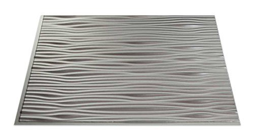 Fasade B65-09 Easy Installation Backsplash Waves Panel for Kitchen and Bathrooms, 18 x 24, Argent Silver by Fasade (Fasade Panels Backsplash)