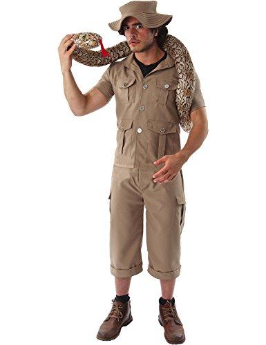 Herren Britischen Safari Anzug Karneval Fasching Verkleidung Kostüm (Safari Kostüm)
