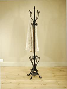 TALL METAL HAT & COAT STAND, UMBRELLA STAND IN BLACK