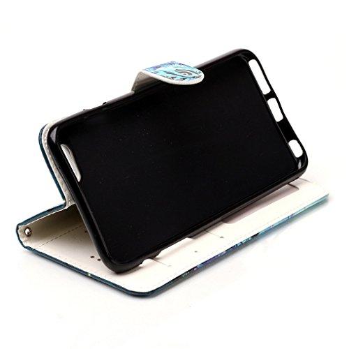 "Apple iPhone 6 Plus / 6S Plus 5.5"" Hülle, SATURCASE Bas-relief Schönes Muster PU Lederhülle Ledertasche Magnetverschluss Flip Cover Brieftasche Case Handy Tasche Schutzhülle Handyhülle Hülle mit Stand Muster-8"
