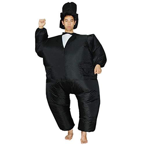 Wetry Erwachsene Ganzkörper Aufblasbare Kleidung Fettes Karnevalskostüm Blow Up Fasching Cosplay Party (Fett Blow Up Kostüm)