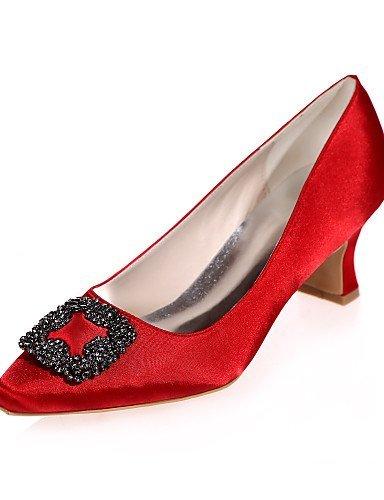 ShangYi Damen - Hochzeitsschuhe - Quadratische Zehe - High Heels - Hochzeit / Party & Festivität -Schwarz / Blau / Lila / Rot / Elfenbein / Weiß 2in