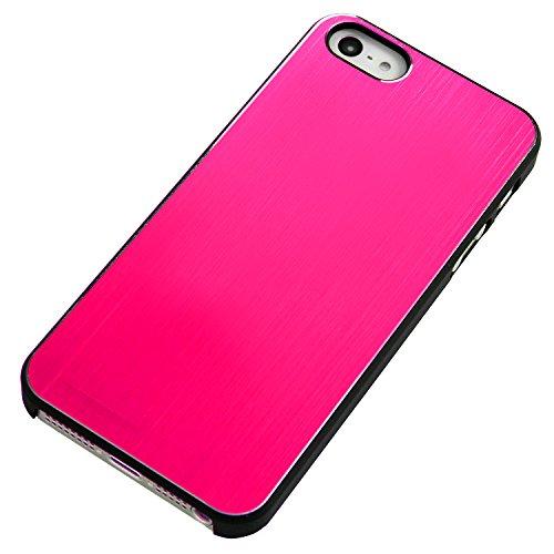 RE:CRON® Edles Handycase Case Hülle Aluminium braun für Apple Iphone 5, 5S Pink