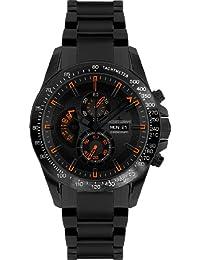 Jacques Lemans Sports Herren-Armbanduhr XL Liverpool DayDate Chronograph Keramik 1-1635H