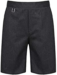 56fff00b6c58c9 Ages 9-16 Plus Size Boys Mens School Shorts Elasticated Waist Black Grey  Navy Sturdy
