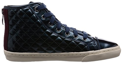 Geox  D New Club A, Chaussures de Tennis femme Océan