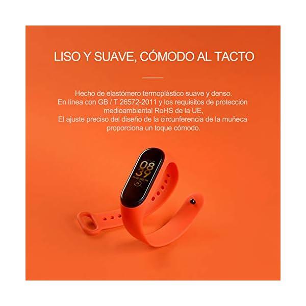 BANGTING 13 PCS Correa Compatible con Pulseras Xiaomi Mi Band 3/4, Correas para Fundas Mi Band 3 Mi Inteligente Band 4 Pulsera Reloj Silicona Banda Reemplazo 7