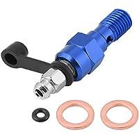 Delaman M10x1.0mm Cilindro Maestro de Freno de Motocicleta, Tornillo de Purga de Calibrador, Perno de Banjo de Boquilla, Tapón Antipolvo (Color : Blue)