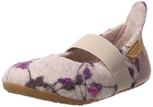 Bisgaard Mädchen Wool Ballet Slipper, Mehrfarbig (159 Rose-Flowers), 27 EU