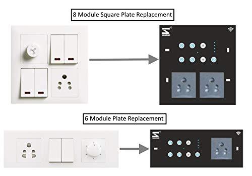 Smarteefi Smart Switch Board, WiFi Smart Switch, Smart Plug, Smart Fan, Fan  Speed Control, Compatible with Alexa & Google Home