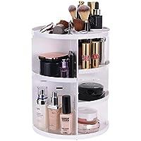 ATPWONZ maquillage Organiseur bac 360 degrés renouvelable stockage boîte cosmétique multifonctionnel 8 couches de maquillage et d'accessoires (blanc)