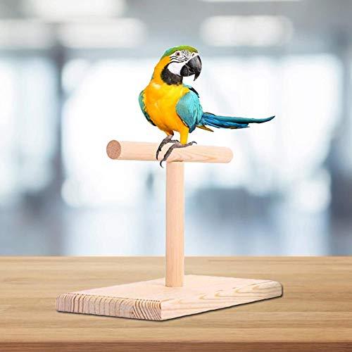 LLDHWX Papagei-Vogel-Spielzeug, Büro-hölzernes Stand-Vogel-Biss-Spielzeug-Sprungbrett -