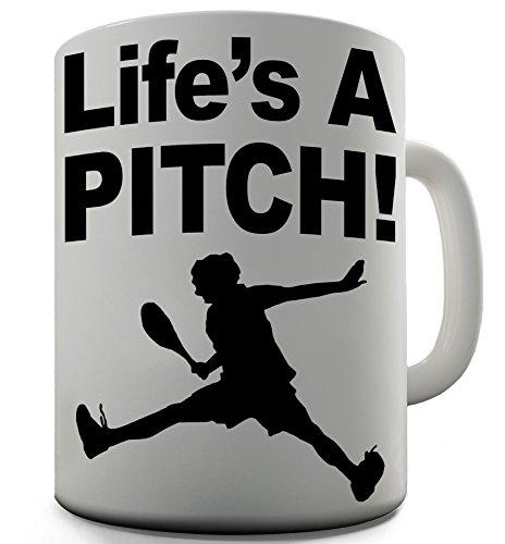 Life's A Bürostuhl aus Pitch Shaggy Hochflor Teppich Funny Design Geschenk Tee Kaffee Tasse aus Keramik - Baseball-bürostuhl