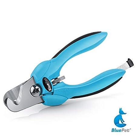 Bluepet® Krallenschere mit Schutz für Hunde & Katzen – Krallenschneider Krallenzange für Zuhause – Nagelschere auch für…