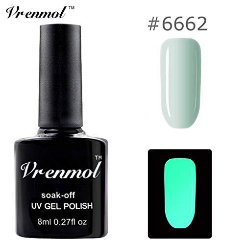 Nagellack im Dunkeln glänzen, Ungiftiger Nagellack 18 Farben Neon Neon Gel Nagellack Watopi