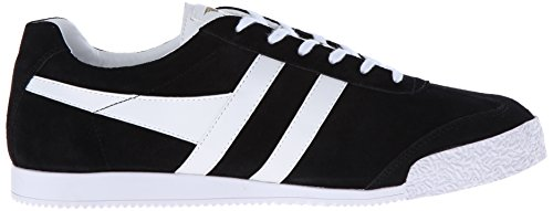 Gola Harrier Suede, Sneakers Basses Homme Noir (Black/white Bp)