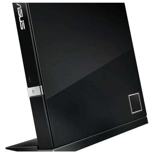 ASUS SBW-06D2X-U/BLK/G/AS - USB 2.0 Black Ext Blu-Ray 6X Writer with BDXL Support