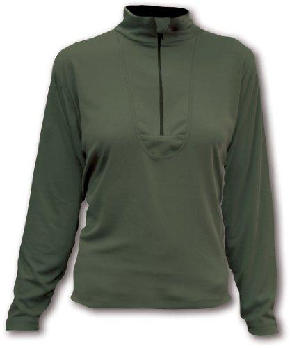 Páramo Women's Cambia Zip Neck T-Shirt Longsleeve L grün - Moos