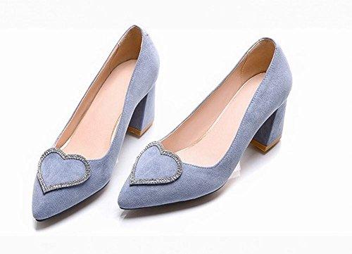 Misssasa Donna Chaussures Avec Des Chaussures En Talon Élégant Bleu Clair