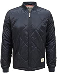 ENVY BOUTIQUE MENS D-STRUCT NEW MENS QUILTED PADDED BIKER BOMBER WARM WINTER WATER PROOF HARRINGTON JACKET S-XL