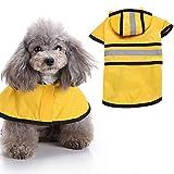 Huhuswwbin Regenjacke, für große Hunde, wasserdicht, Größe XXL, Gelb