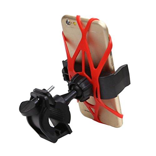 Hunpta Fahrrad Fahrrad Lenker Halterung Universal für Handy-GPS (Rot) - Fahrradständer Hinten