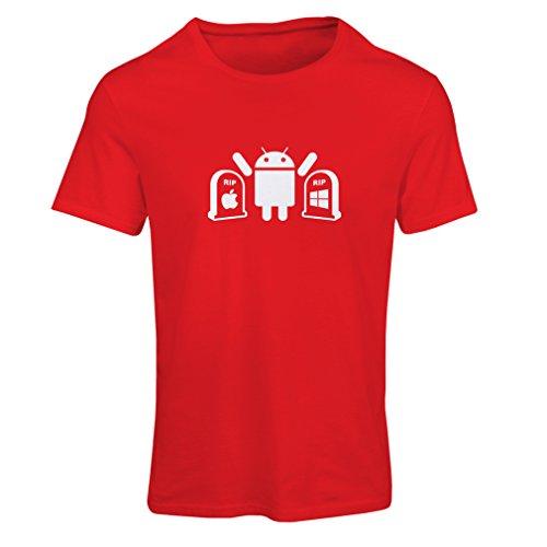 lepni.me Camiseta Mujer El Ganador es Android - Regalo para los fanáticos de la tecnología (Small Rojo Blanco)